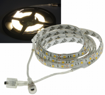 LED-Stripe 10m, warmweiß 12V/100W, 600 LEDs, IP44, 8300 Lumen