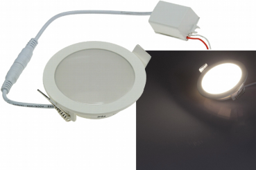 LED Licht-Panel , Ø 90mm, IP54 230V, 5W, 420 Lumen, 4200K / neutralweiß