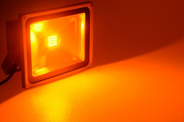 1a led profis led strahler 35w ip65 farbe amber. Black Bedroom Furniture Sets. Home Design Ideas