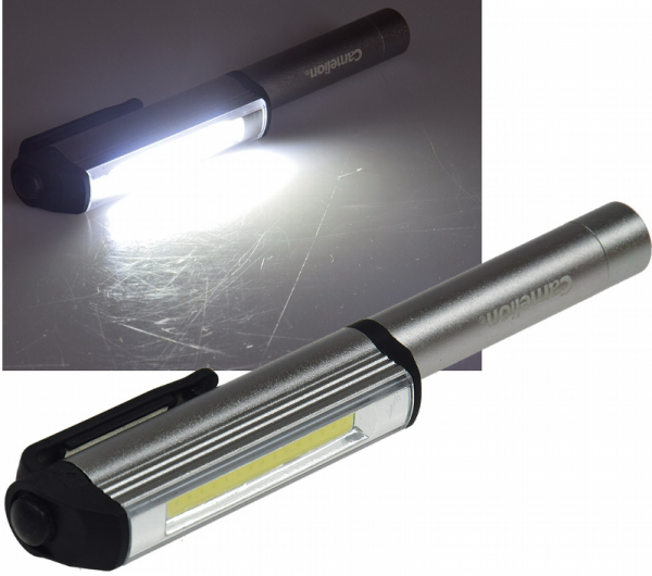 LED Arbeits- & Inspektionsleuchte Magnet-Clip, 3W, 200lm